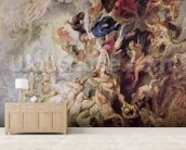 Small Last Judgement, c.1620 (oil on panel) wallpaper mural living room preview