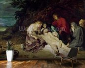 Lamentation over the Dead Christ with St. John and the Holy Women, 1614 (oil on panel) wallpaper mural kitchen preview