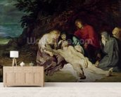 Lamentation over the Dead Christ with St. John and the Holy Women, 1614 (oil on panel) wallpaper mural living room preview