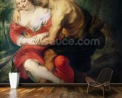 Scene of Love or, The Gallant Conversation (oil on canvas) wallpaper mural kitchen preview