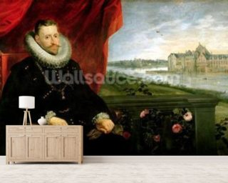 Albert of Habsbourg (1559-1621) Archduke of Austria (oil on canvas) (pair of 197173) mural wallpaper