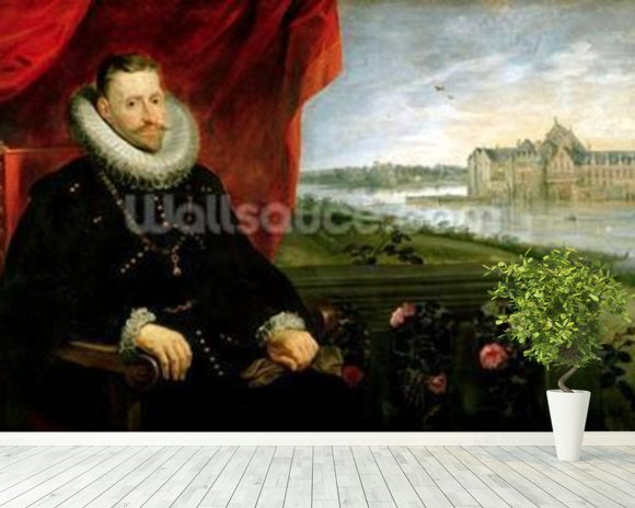Albert of Habsbourg (1559-1621) Archduke of Austria (oil on canvas) (pair of 197173) mural wallpaper room setting