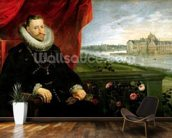 Albert of Habsbourg (1559-1621) Archduke of Austria (oil on canvas) (pair of 197173) mural wallpaper kitchen preview