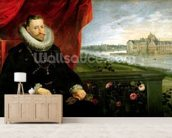 Albert of Habsbourg (1559-1621) Archduke of Austria (oil on canvas) (pair of 197173) mural wallpaper living room preview