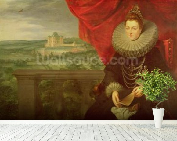 The Infanta Isabella Clara Eugenia (1566-1633) (oil on canvas) (pair of 197174) wall mural room setting