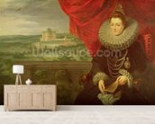 The Infanta Isabella Clara Eugenia (1566-1633) (oil on canvas) (pair of 197174) wall mural living room preview