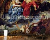 The Medici Cycle: Meeting of Henri IV (1553-1610) and Marie de Medici (1573-1642) at Lyon on 9th September 1600, 1621-25 (oil on canvas) wallpaper mural kitchen preview