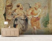 Elijah Receiving Bread and Water from an Angel, c.1626-28 mural wallpaper living room preview