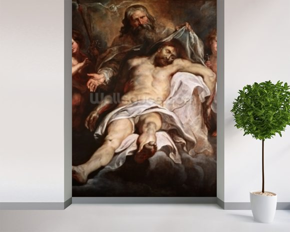 The Trinity (oil on panel) wall mural room setting