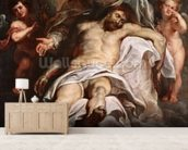 The Trinity (oil on panel) wall mural living room preview