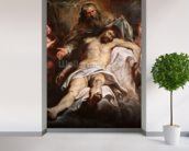 The Trinity (oil on panel) wall mural in-room view
