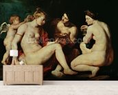 Venus, Cupid, Bacchus and Ceres, 1613 (oil on canvas) wall mural living room preview