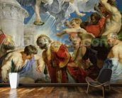 The Stoning of St. Stephen, from the Triptych of St. Stephen (oil on panel) mural wallpaper kitchen preview
