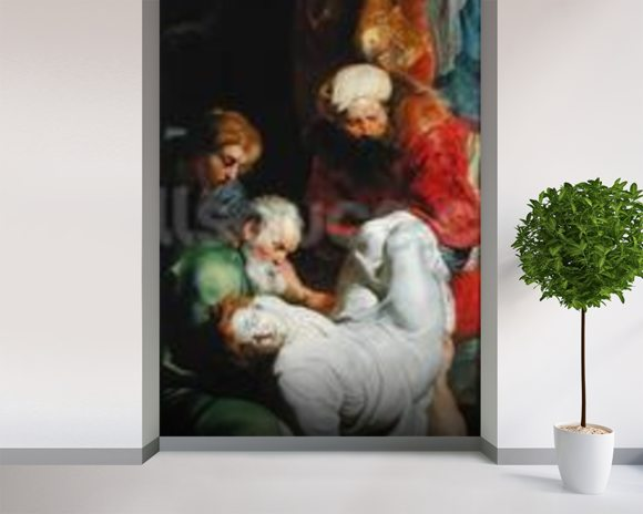 The Entombment of St. Stephen, from the Triptych of St. Stephen (oil on panel) wall mural room setting