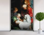 The Entombment of St. Stephen, from the Triptych of St. Stephen (oil on panel) wall mural in-room view