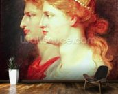 Tiberius (42BC-37AD) and Agrippina, c.1614 (oil on panel) wall mural kitchen preview