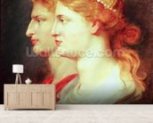 Tiberius (42BC-37AD) and Agrippina, c.1614 (oil on panel) wall mural living room preview