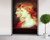 Tiberius (42BC-37AD) and Agrippina, c.1614 (oil on panel) wall mural in-room view