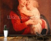 Virgin with Child (oil on canvas) wallpaper mural kitchen preview
