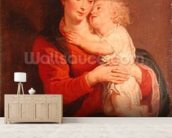 Virgin with Child (oil on canvas) wallpaper mural living room preview