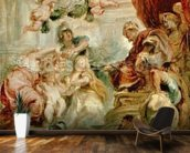 The Union of the Crowns, 1630-34 (oil on canvas) mural wallpaper kitchen preview
