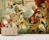 The Union of the Crowns, 1630-34 (oil on canvas) mural wallpaper living room preview