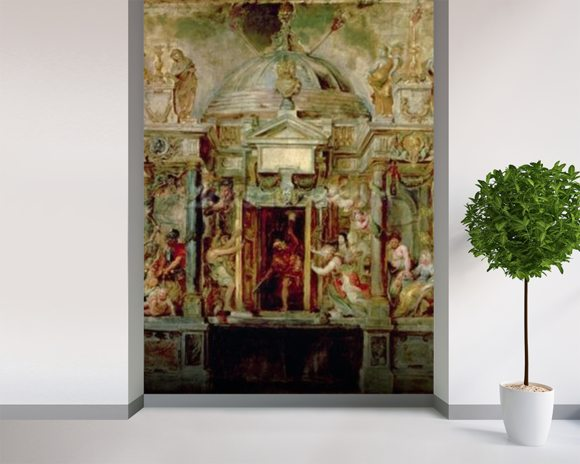 Temple of Janus, 1630s (oil on canvas) wall mural room setting
