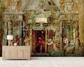 Temple of Janus, 1630s (oil on canvas) wall mural living room preview