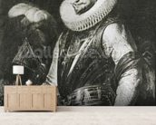 Portrait of Marquis Ambrogio Spinola (1569-1630) (oil on panel) (b/w photo) wallpaper mural living room preview