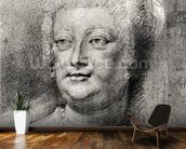 Portrait of Marie de Medici (1573-1642), 1622 ? (pierre noire and red chalk with white highlight) wall mural kitchen preview