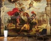 Achilles Defeating Hector, 1630-32 (oil on panel) wall mural kitchen preview