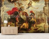 Achilles Defeating Hector, 1630-32 (oil on panel) wall mural living room preview