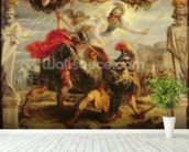 Achilles Defeating Hector, 1630-32 (oil on panel) wall mural in-room view