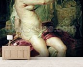 The Death of Dido (oil on canvas) mural wallpaper living room preview