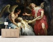 Ecstasy of Mary Magdalene, c.1619-20 (oil on canvas) wall mural living room preview