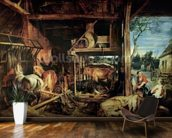 The Return of the Prodigal Son, c.1618 (oil on canvas) mural wallpaper kitchen preview