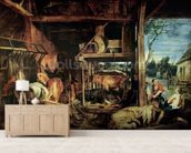 The Return of the Prodigal Son, c.1618 (oil on canvas) mural wallpaper living room preview