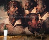 Studies of the Head of a Negro (oil on canvas) mural wallpaper kitchen preview