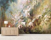 The Fall of the Damned (oil on panel) mural wallpaper living room preview