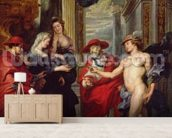 The Medici Cycle: The Treaty of Angouleme 30 April 1619, 1621-5 (oil on canvas) wall mural living room preview