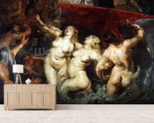 Detail of the Sirens from The Arrival of Marie de Medici in Marseilles, 3rd November 1600, 1621-25 (oil on canvas) (see 2995) wallpaper mural living room preview
