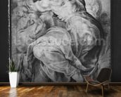 The Libyan Sibyl, after Michangelo Buonarroti (pierre noire & red chalk on paper) wall mural kitchen preview