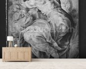 The Libyan Sibyl, after Michangelo Buonarroti (pierre noire & red chalk on paper) wall mural living room preview
