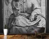 The Prophet Jeremiah, after Michangelo Buonarroti (pierre noire & red chalk on paper) wallpaper mural kitchen preview
