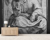 The Prophet Jeremiah, after Michangelo Buonarroti (pierre noire & red chalk on paper) wallpaper mural living room preview