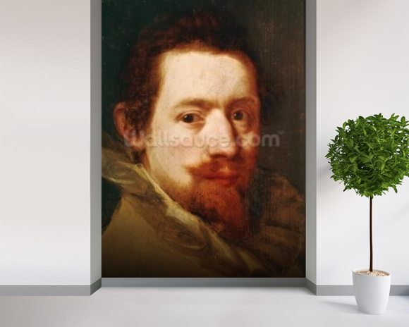 Portrait of Peeter Snayers, c.1626 (oil on canvas) wall mural room setting