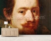 Portrait of Peeter Snayers, c.1626 (oil on canvas) wall mural living room preview