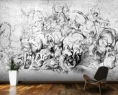 The Battle between the Greeks and the Amazons, c.1602-04 (pen & ink on paper) wall mural kitchen preview
