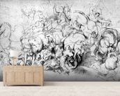 The Battle between the Greeks and the Amazons, c.1602-04 (pen & ink on paper) wall mural living room preview