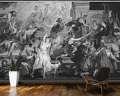 The Apotheosis of Henri IV and the Proclamation of the Regency of Marie de Medici, 1622-25 (oil on canvas) (b/w photo) wall mural kitchen preview